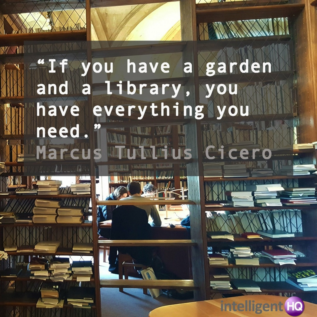 Quote by Cicero. Image by Maria Fonseca