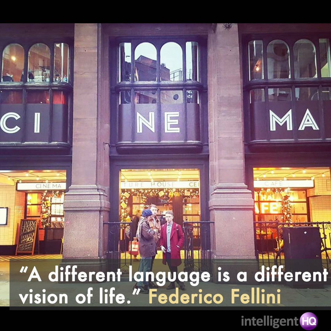 """A different language is a different vision of life.""  Federico Fellini Image by Maria Fonseca, Intelligenthq"