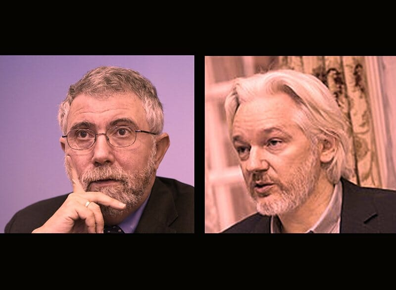 What People Think About Blockchain: Paul Krugman and Julian Assange