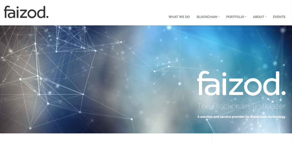 Screenshot of website Faizod