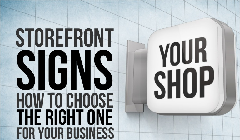 Raise Your Brand Standard with Right Storefront Signs