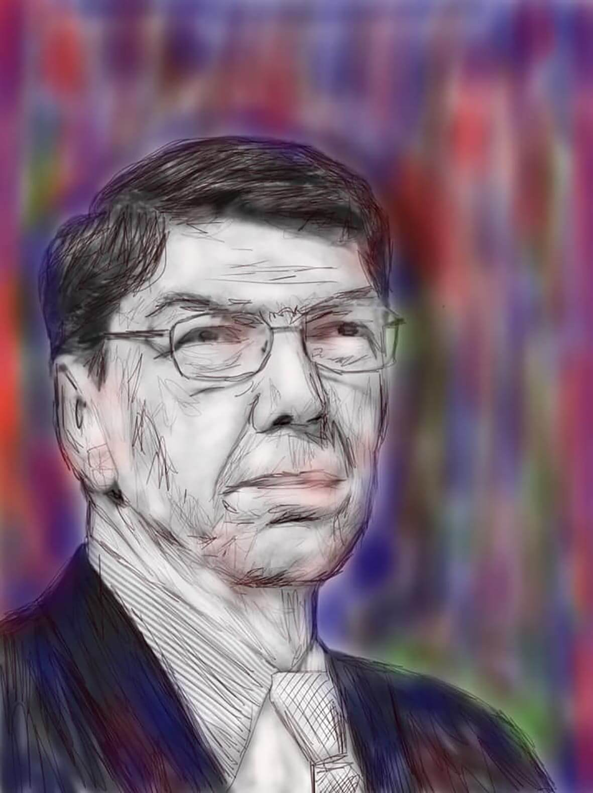 Clayton Christensen. Drawing by Dinis Guarda.