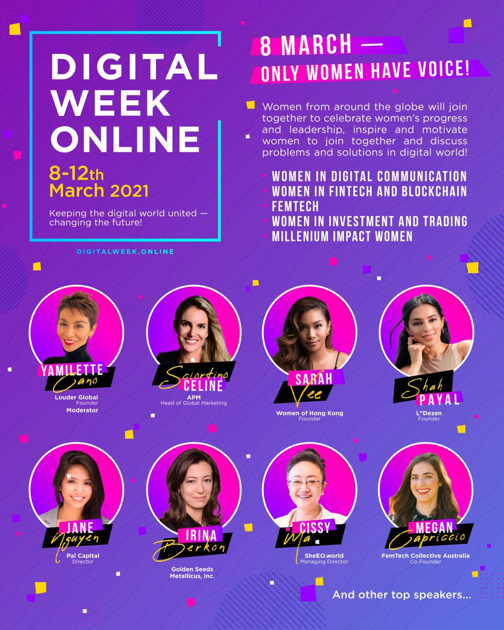 Women Empowerment, Fintech, Crypto And The Biggest Digital Trends At Digital Week Online