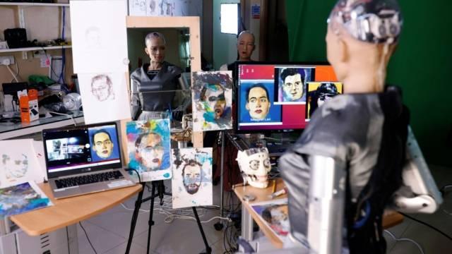 NFT Artist, Andrea Bonaceto, Sophia The Robot