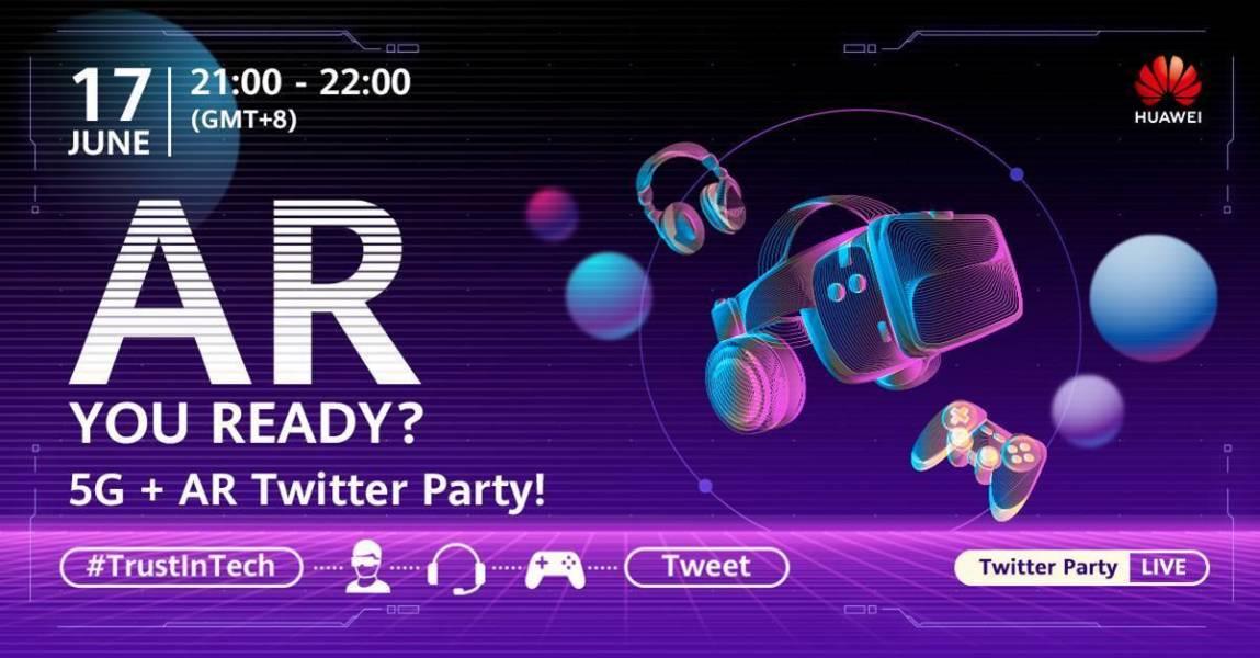 5G, AR, Huawei, 5G AR Twitter party, Huawei Better World Summit 2021, BWS
